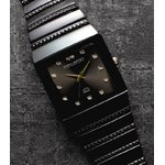 ペレバレンチノ ダイヤモンドミラノ腕時計 ブラック レディース