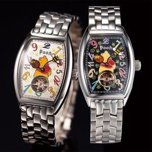 プーさん生誕80周年記念 ファンタジーアワー時計 ブラック - 拡大画像