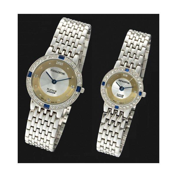 ペレバレンチノ 純金ダイヤ宝飾時計 メンズf00