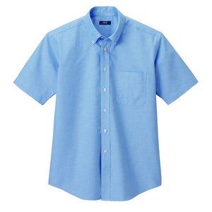 形状安定&強力消臭W効果で爽やかオックスフォードシャツ サックスL - 拡大画像