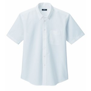 形状安定&強力消臭W効果で爽やかオックスフォードシャツ オフホワイトM - 拡大画像