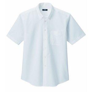 形状安定&強力消臭W効果で爽やかオックスフォードシャツ オフホワイトL - 拡大画像