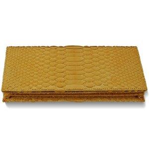 黄金の輝き!オール黄蛇長財布