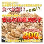 【ワケあり】29年餃子を作り続ける専門店の安心の国産餃子200個!!40人前!!