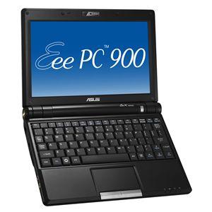 ASUS ノートパソコン EeePC 900-X シャイニーブラック - 拡大画像