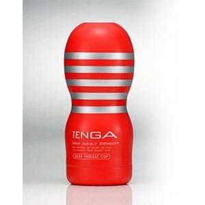 赤TENGA(テンガ) ディープスロート・カップ 特殊な構造が生み出す、DEEPな吸いつき感。 - 拡大画像