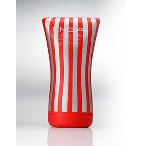 赤TENGA(テンガ) ソフトチューブ・カップ やわらかチューブでしめつけ自由自在。 - 拡大画像