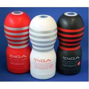 TENGA(テンガ) ディープスロート・カップ 3種セット 特殊な構造が生み出す、DEEPな吸いつき感。 - 拡大画像