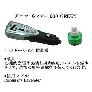 アロマ ウィズ-1000 GREEN(安らぎ、菌を抑える香り 車用アロマ芳香剤)