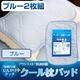 接触冷感ひんやりタッチプラス・アウトラスト(R) 快適快眠クール枕パッド【2枚組】 ブルー - 縮小画像1