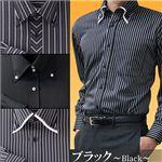防寒ファーシャツ 3枚セット 50234 M(ブラック系)