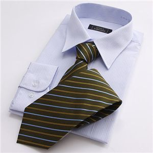 【09'銀座・丸の内のOL100人が厳選!】カラー系ワイシャツ&ネクタイ14点セット LLサイズ
