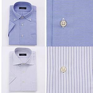 ドゥエボットーニワイシャツ(セミワイド・ボタンダウン)半袖5枚セット Mサイズ