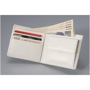 【訳あり・在庫処分】白蛇 二つ折り財布 ★財運向上の縁起物