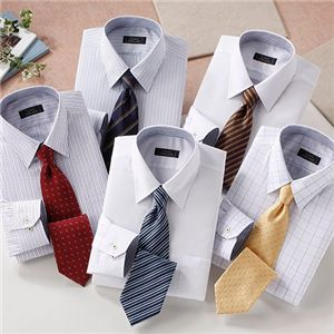 お買い得!ワイシャツ&ネクタイ 10点セット Lサイズ - 拡大画像