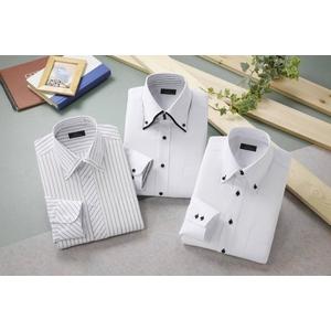 ドレスシャツ3枚組(ホワイト系) Sサイズ - 拡大画像