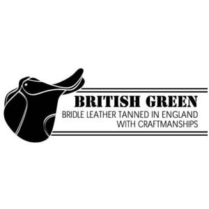【訳あり・在庫処分】BRITISH GREEN(ブリティッシュグリーン) ブライドルレザー2つ折り財布 グリーン h02