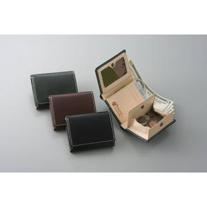 ブライドルレザー胸ポケット財布 ブラックの写真1