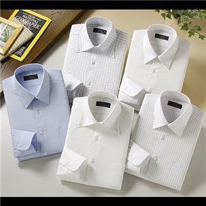 NEWタイトフィットワイシャツ5枚組 M 裄丈84センチ - 拡大画像