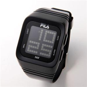FILA(フィラ) 360゜SENSOR デジタルウォッチ FCD001-101 ブラック - 拡大画像