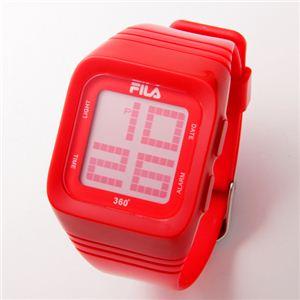 FILA(フィラ) 360゜SENSOR デジタルウォッチ FCD001-102 レッド - 拡大画像