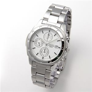 SEIKO(セイコー) 腕時計 クロノグラフ SND187P シルバー - 拡大画像