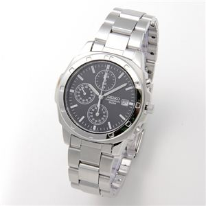 SEIKO(セイコー) 腕時計 クロノグラフ SND191P ブラック/バー - 拡大画像