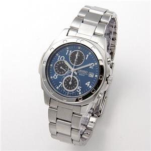 SEIKO(セイコー) 腕時計 クロノグラフ SND193P ブルー - 拡大画像