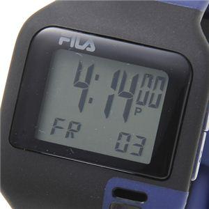 FILA(フィラ) タッチライト ツートン デジタルウォッチ ブルー×ブラック