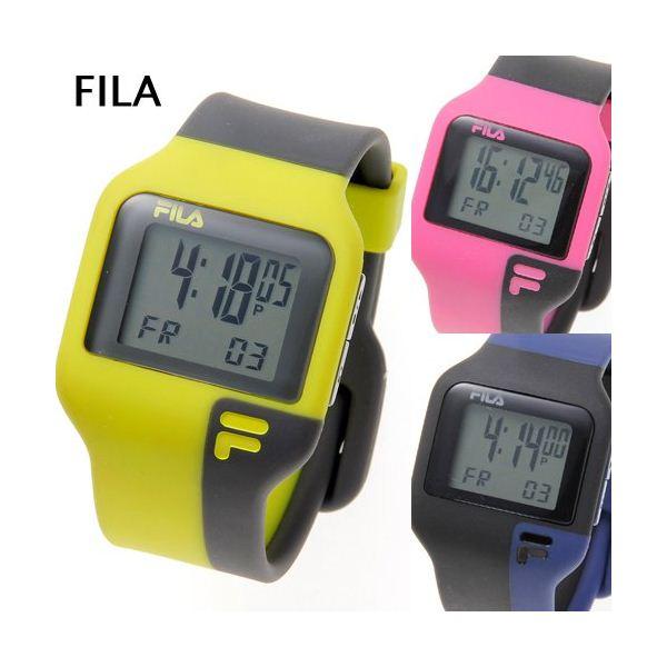 FILA(フィラ) タッチライト ツートン デジタルウォッチ ピンク×ブラックf00