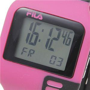 FILA(フィラ) タッチライト ツートン デジタルウォッチ ピンク×ブラック h03