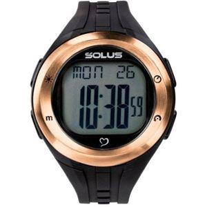 【SOLUS(ソーラス)心拍計】  心拍時計(ハートレートモニター) ブラック×ピンクゴールド 01-900-002