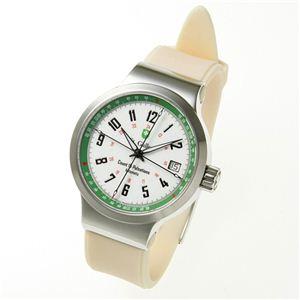 St.Gallen(セントガレン) 心拍計測時計 【A】ホワイト×グリーン - 拡大画像