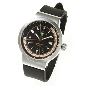 St.Gallen(セントガレン) 心拍計測時計 【B】ブラック×ゴールド - 拡大画像
