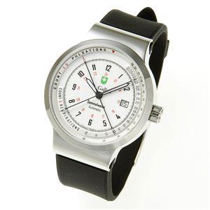 St.Gallen(セントガレン) 心拍計測時計 【B】ホワイト - 拡大画像