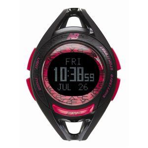 new balance(ニューバランス) 腕時計 EX2 903 ランニングウォッチ ブラック×ピンク - 拡大画像