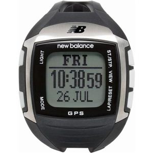 new balance(ニューバランス) 腕時計 EX2 900 GPS機能搭載 for windows ランニングウォッチ ブラック×シルバー - 拡大画像