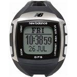 new balance(ニューバランス) 腕時計 EX2 900 GPS機能搭載 for windows ランニングウォッチ ブラック×シルバー