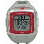 new balance(ニューバランス) 腕時計 EX2 900 GPS機能搭載 for windows ランニングウォッチ グレー×レッド
