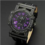 Dolce Medio(ドルチェ・メディオ) DM11211-IPBKPL ブラック(パープル文字)&ブラック 腕時計