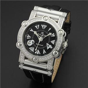 Dolce Medio(ドルチェ・メディオ) DM11211-SSBK ブラック×シルバー&ブラック 腕時計 - 拡大画像