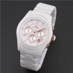 Dolce Medio(ドルチェ・メディオ) DM12201-WHG ホワイト(ゴールド文字) 腕時計 - 拡大画像