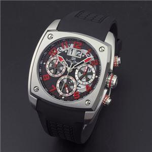 Dolce Medio(ドルチェ・メディオ) DM12203-SSBKRD ブラック(レッド文字)×シルバー 腕時計 - 拡大画像