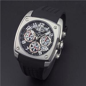 Dolce Medio(ドルチェ・メディオ) DM12203-SSBKWH ブラック(ホワイト文字)×シルバー 腕時計 - 拡大画像