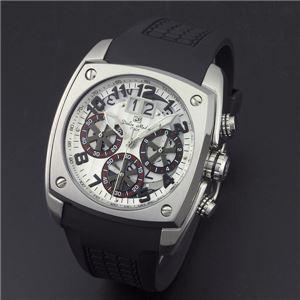 Dolce Medio(ドルチェ・メディオ) DM12203-SSWHBK ホワイト(ブラック文字)×シルバー 腕時計 - 拡大画像