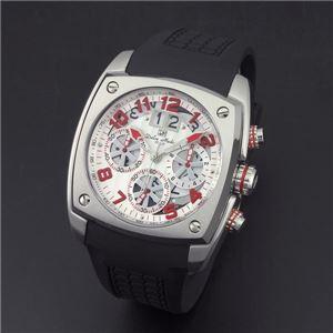 Dolce Medio(ドルチェ・メディオ) DM12203-SSWHRD ホワイト(レッド文字)×シルバー 腕時計 - 拡大画像