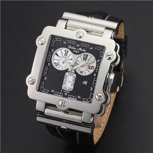 Dolce Medio(ドルチェ・メディオ) DM8018BK ブラック×シルバー&ブラック 腕時計 - 拡大画像