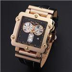 Dolce Medio(ドルチェ・メディオ) DM8018PGBK ブラック×ピンクゴールド&ブラック 腕時計