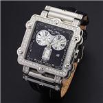 Dolce Medio(ドルチェ・メディオ) DM8018QZBK ブラック×シルバー&ブラック 腕時計