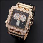 Dolce Medio(ドルチェ・メディオ) DM8018QZPGBK ブラック×ピンクゴールド&ブラック 腕時計
